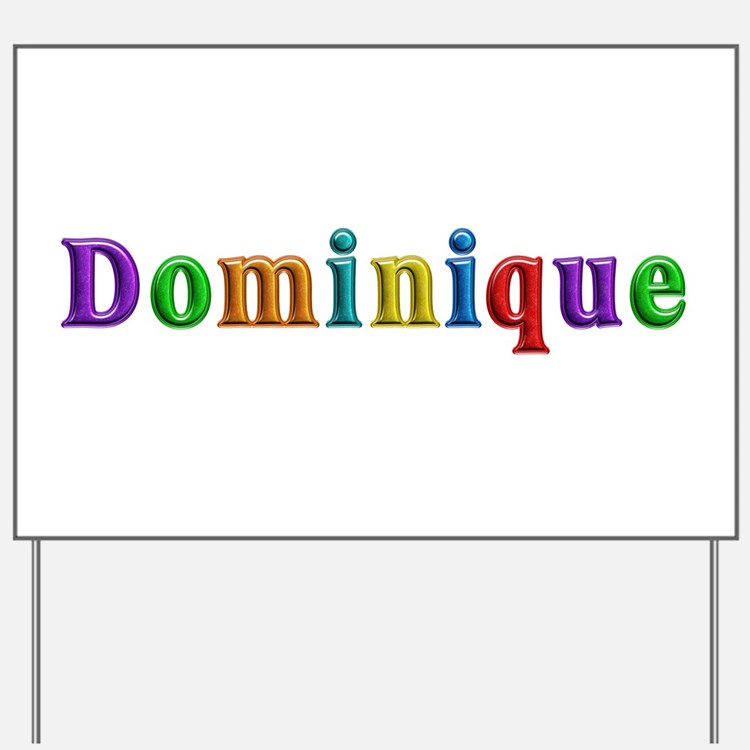 Dominique Shiny Colors Yard Sign