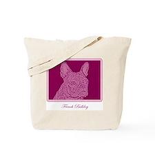 French Bulldog Rec (purple) Tote Bag