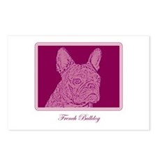 French Bulldog Rec (purple) Postcards (Package of