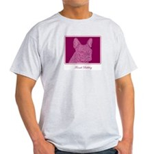French Bulldog Rec (purple) Ash Grey T-Shirt