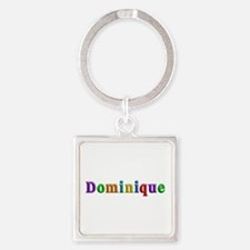 Dominique Shiny Colors Square Keychain