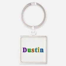 Dustin Shiny Colors Square Keychain
