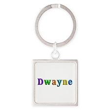 Dwayne Shiny Colors Square Keychain