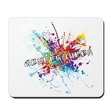 Rainbow Splash Genderqueer Mousepad