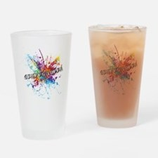 Rainbow Splash Genderqueer Drinking Glass