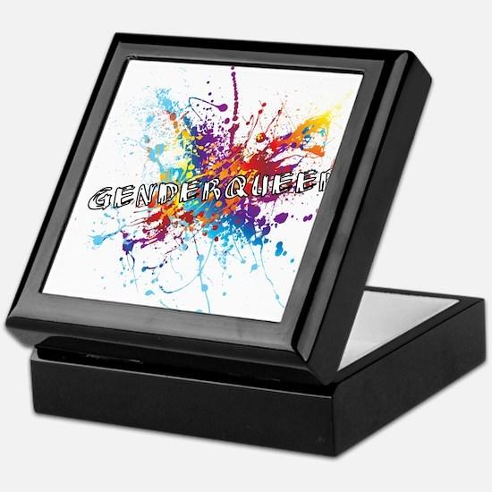 Rainbow Splash Genderqueer Keepsake Box