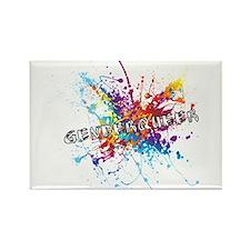 Rainbow Splash Genderqueer Magnets