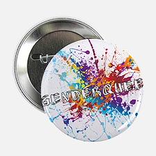 """Rainbow Splash Genderqueer 2.25"""" Button"""