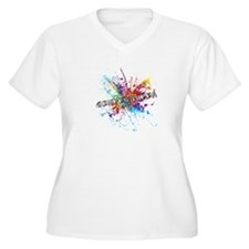 Rainbow Splash Genderqueer Plus Size T-Shirt
