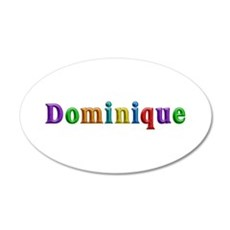 Dominique Shiny Colors Wall Decal