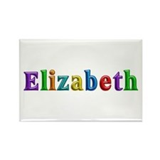 Elizabeth Shiny Colors Rectangle Magnet