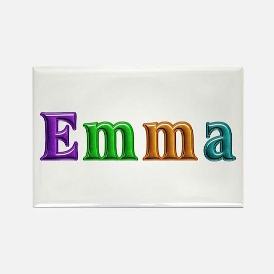 Emma Shiny Colors Rectangle Magnet