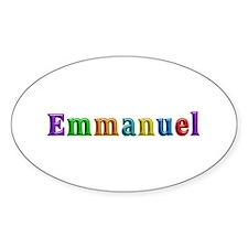 Emmanuel Shiny Colors Oval Decal