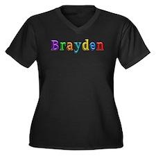 Brayden Shiny Colors Plus Size T-Shirt