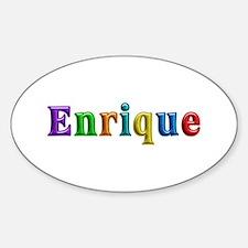 Enrique Shiny Colors Oval Bumper Stickers