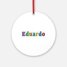 Eduardo Shiny Colors Round Ornament