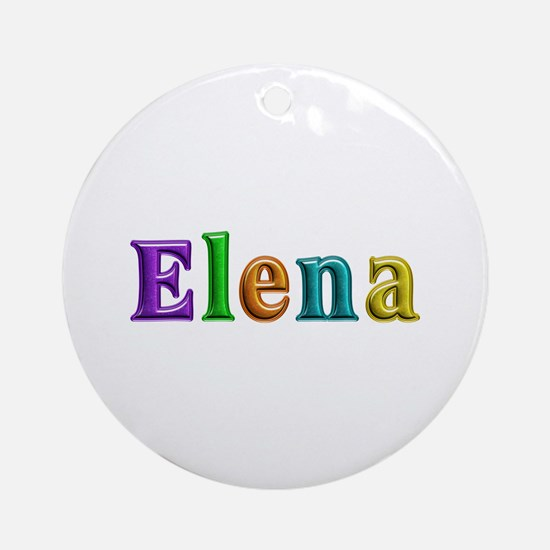Elena Shiny Colors Round Ornament