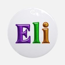 Eli Shiny Colors Round Ornament