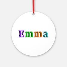 Emma Shiny Colors Round Ornament