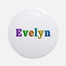 Evelyn Shiny Colors Round Ornament
