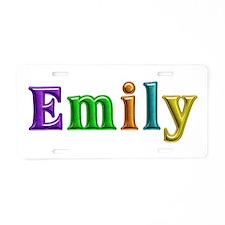 Emily Shiny Colors Aluminum License Plate