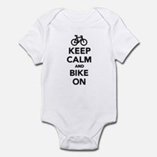 Keep calm and bike on Infant Bodysuit
