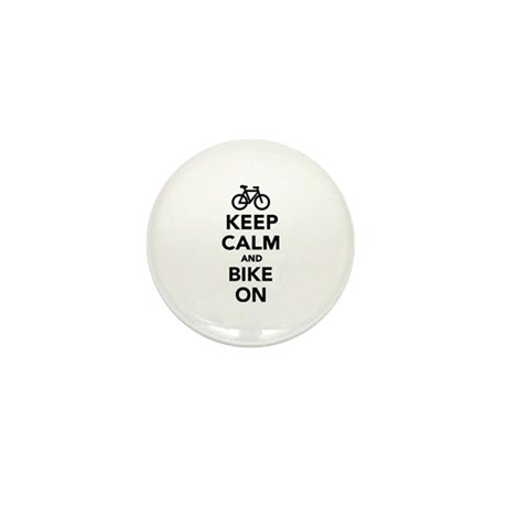 Keep calm and bike on Mini Button (10 pack)