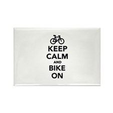 Keep calm and bike on Rectangle Magnet