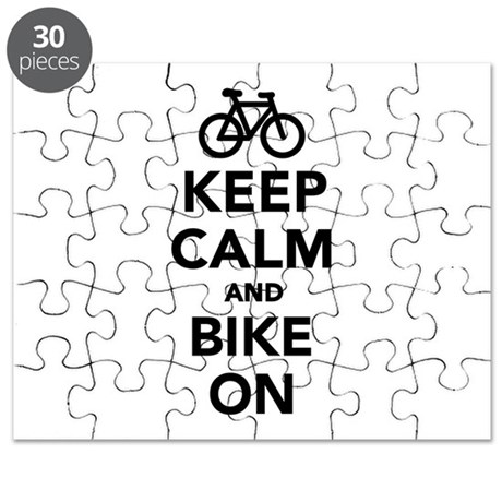 Keep calm and bike on Puzzle