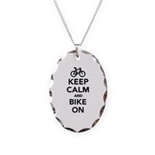 Keep calm and bike on Necklace