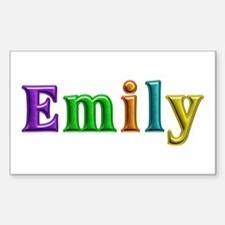 Emily Shiny Colors Rectangle Decal