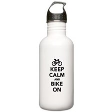 Keep calm and bike on Water Bottle
