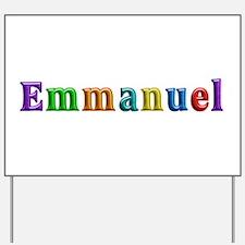 Emmanuel Shiny Colors Yard Sign