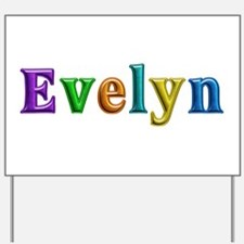 Evelyn Shiny Colors Yard Sign