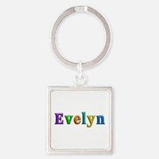 Evelyn Shiny Colors Square Keychain