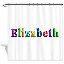 Elizabeth Shiny Colors Shower Curtain