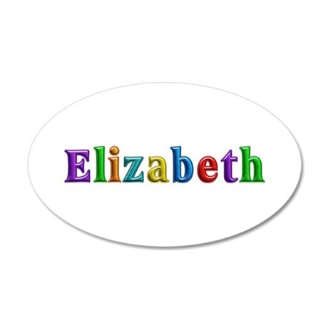 Elizabeth Shiny Colors 20x12 Oval Wall Decal