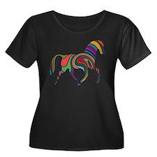Cute Horse Plus Size T-Shirt