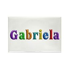 Gabriela Shiny Colors Rectangle Magnet