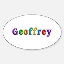 Geoffrey Shiny Colors Oval Decal