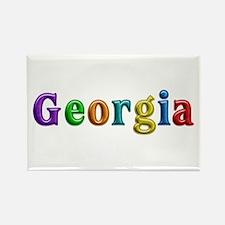 Georgia Shiny Colors Rectangle Magnet