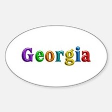 Georgia Shiny Colors Oval Decal