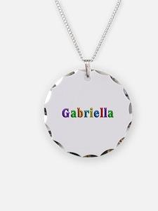 Gabriella Shiny Colors Necklace Circle Charm