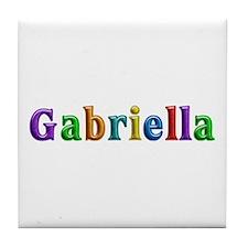 Gabriella Shiny Colors Tile Coaster