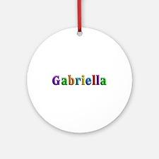 Gabriella Shiny Colors Round Ornament