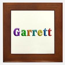 Garrett Shiny Colors Framed Tile