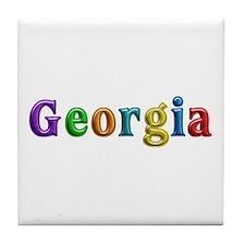 Georgia Shiny Colors Tile Coaster