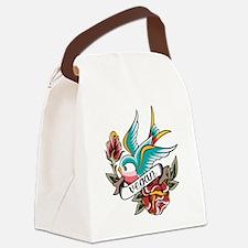 vegan tattoo design Canvas Lunch Bag