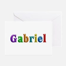Gabriel Shiny Colors Greeting Card