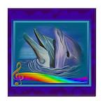 Dolphin Song Tile Coaster